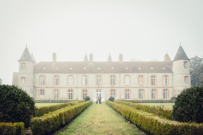mist over Le Chateau de Beaulieu