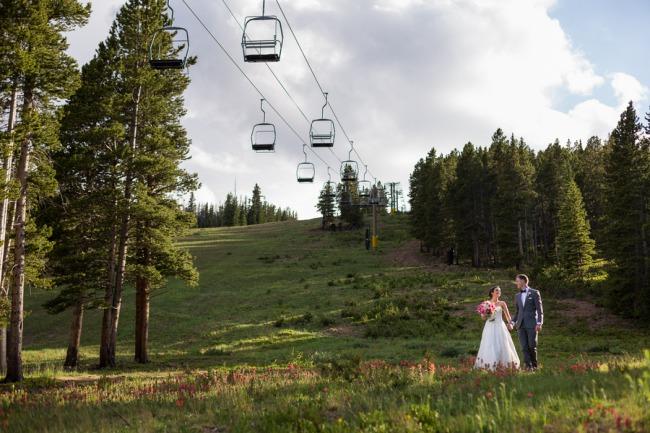 newlyweds at Breckenridge summer