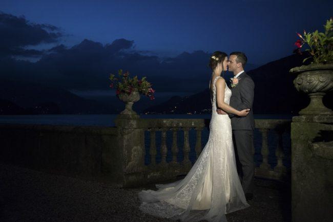 newlyweds at night
