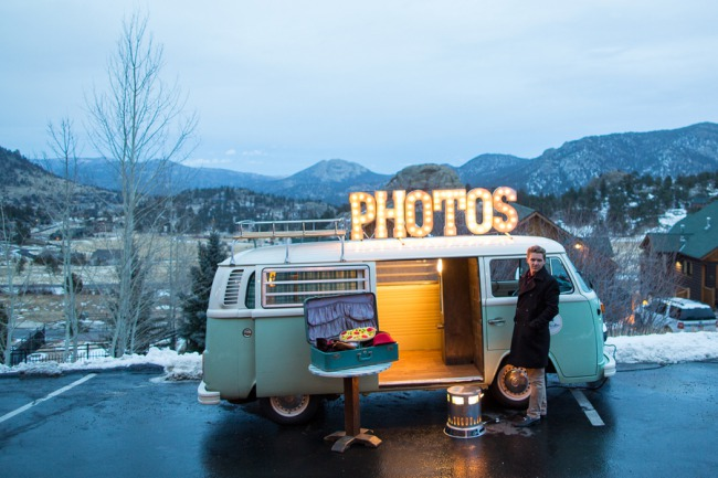 outdoor VW van photobooth