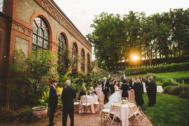 outdoor reception at Biltmore Hotel