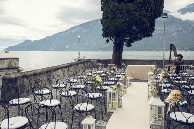 outdoor wedding on Lake Como