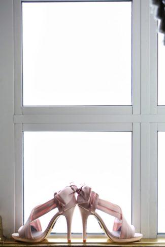 pink bridal heels