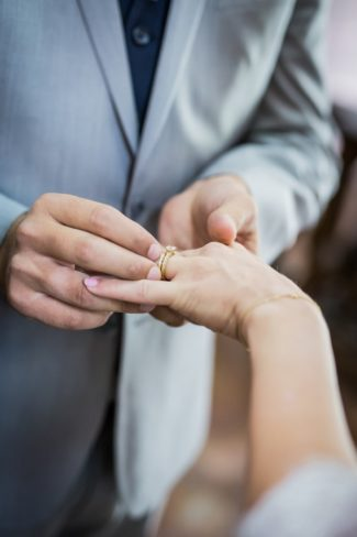 putting ring on bride's finger