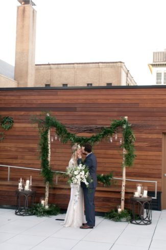 rooftop alter couple
