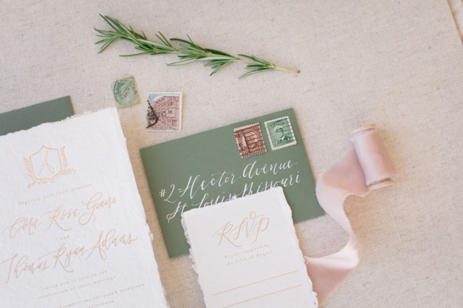 rosemary twig with stationery suite