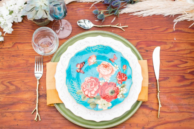 styled plate setting