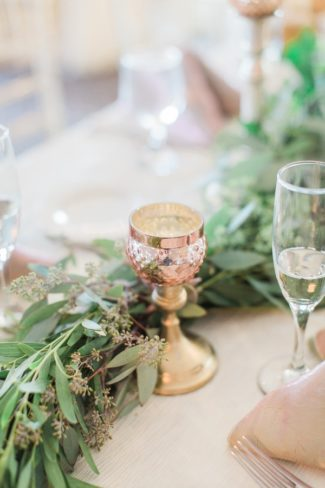 table scape with greenery
