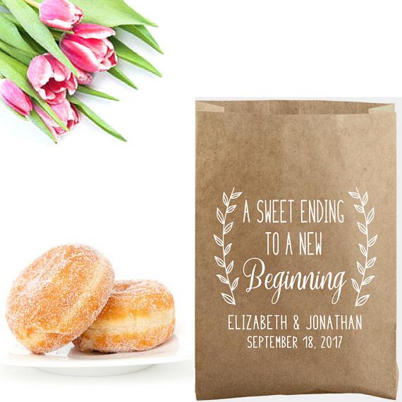 wedding favor bag food stamp