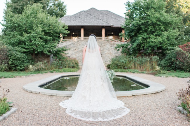 Bride Chapel Length Veil at Garden grounds