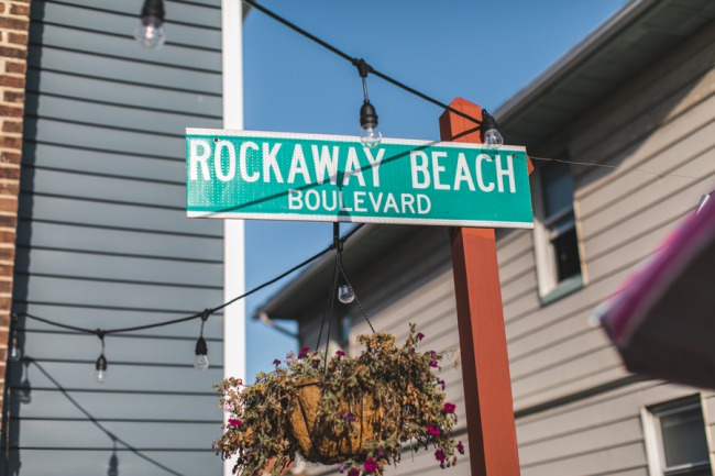 Rockaway Beach Boulevard street sign