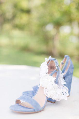 Steve Madden bridal heels in suede blue