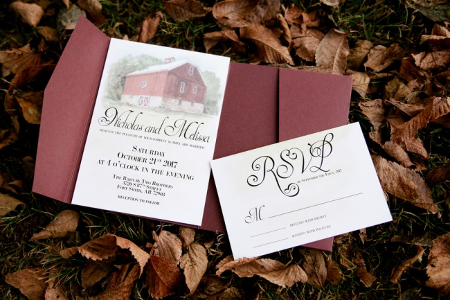 barn stationery suite