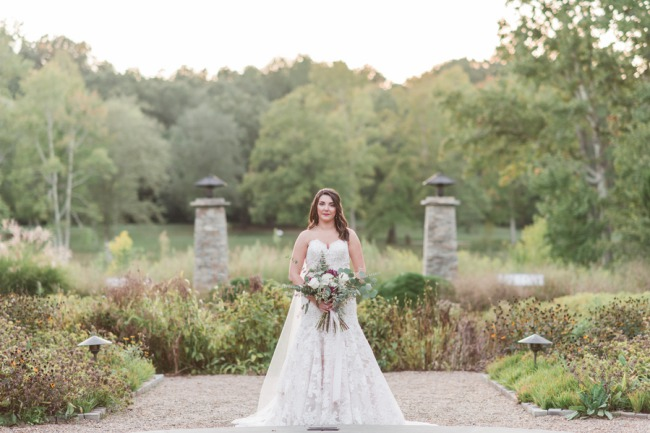 bridal shoot at Furman University