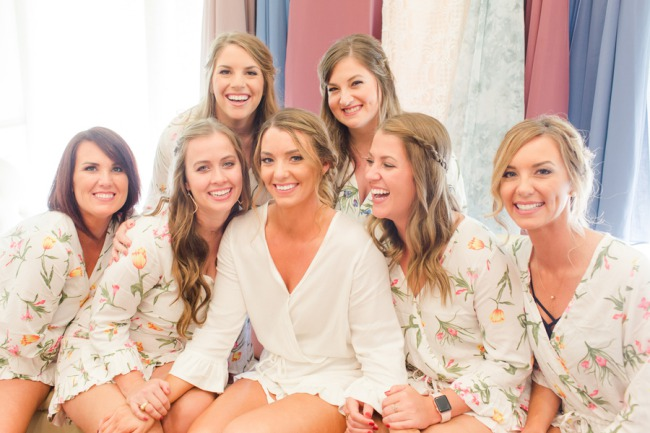 bridesmaids in silk robes