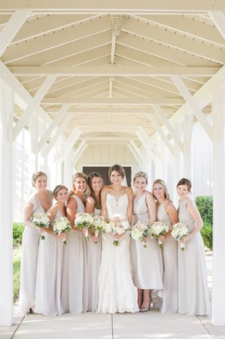bridesmaids with bouquets portrait