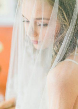 model under veil
