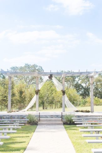 wedding ceremony site at White Oaks Events