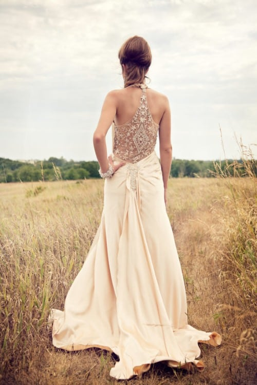 1930s Inspired Wedding dress flapper backless