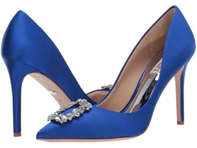 Badgley Mischka Cher blue heel