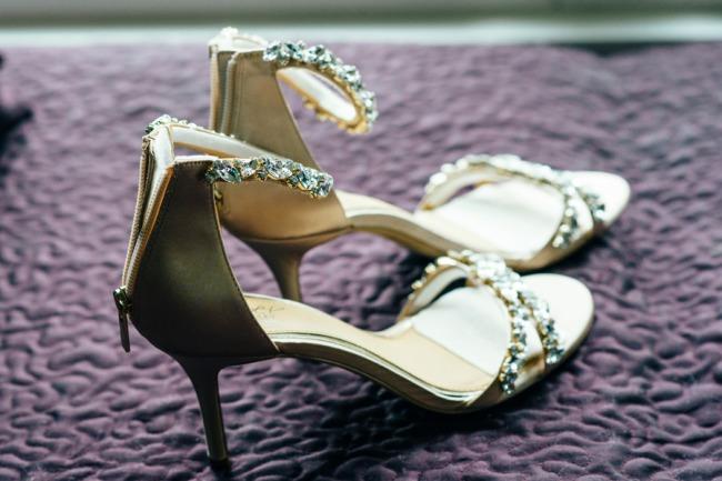 Bradley Mischka zipper heels
