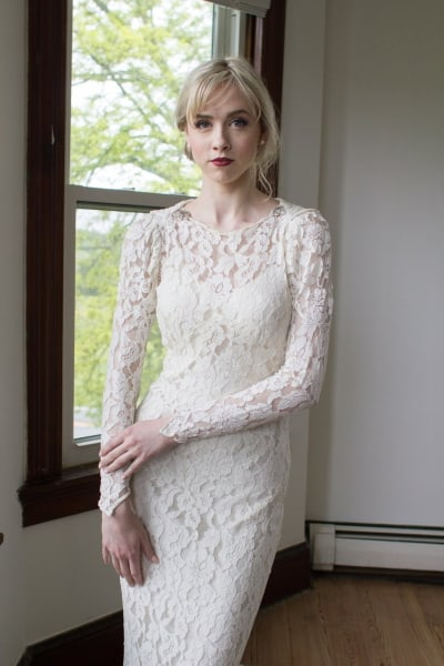 1930s Inspired Art Deco Wedding Dress