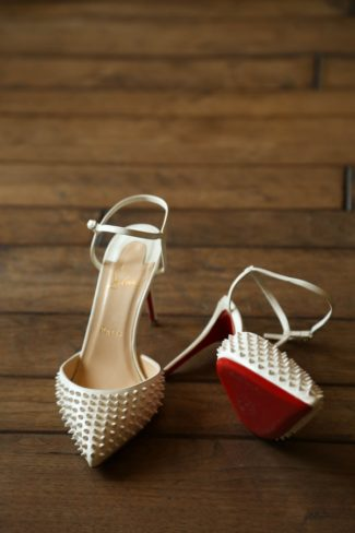 Red Sole Christian Louboutin wedding shoe
