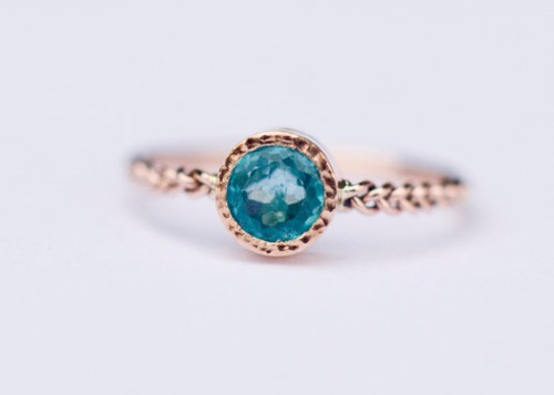 Apatite Engagement Ring