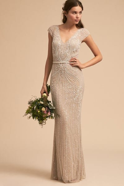 art deco inspired dress at BHLDN