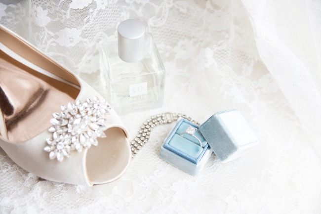 bridal heel toe crystal and ring