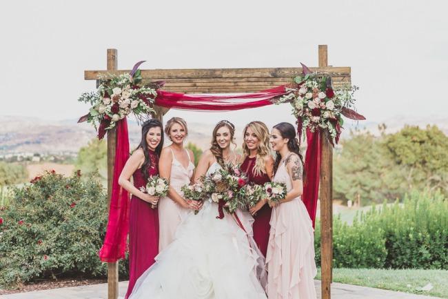 bridal ladies under arch