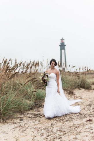 bride at First Landing State Park beach
