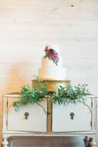 cake on white dresser