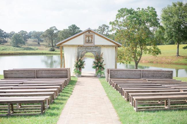 ceremony area at The White Magnolia