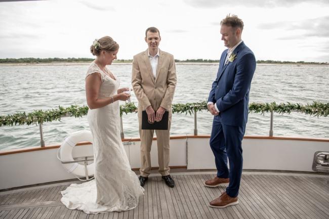 ceremony on board Everest yacht