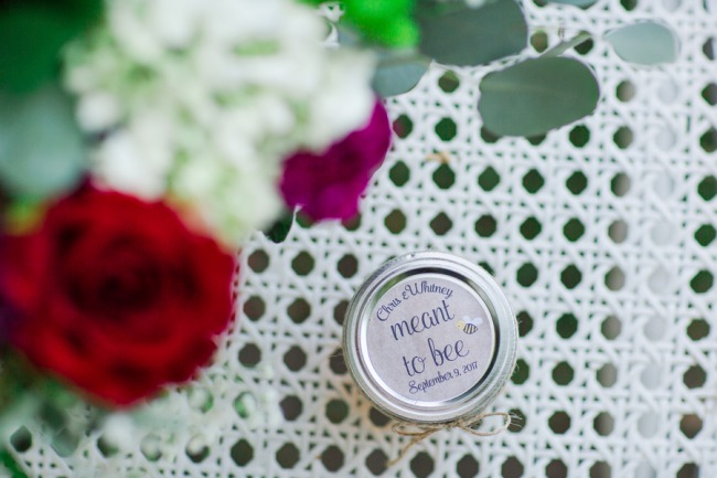custom favor honey jar