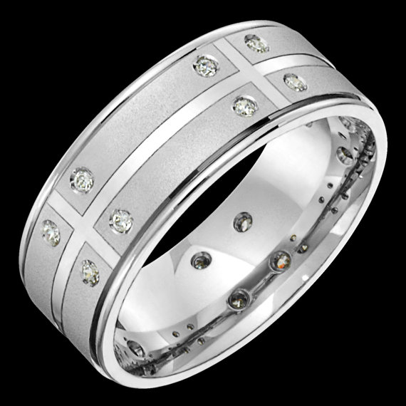 Diamond Band with Sandblast Finish