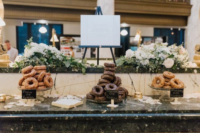 donut dessert table