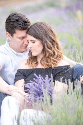 in lavender field