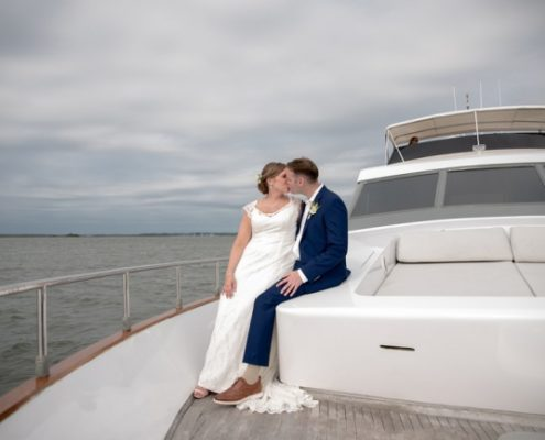 nelyweds aboard Everest yacht