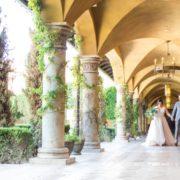 newlywed portrait at Villa Siena