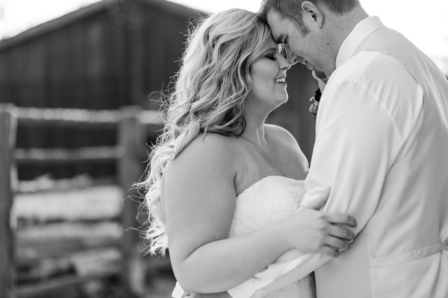 newlywed portrait in black and white