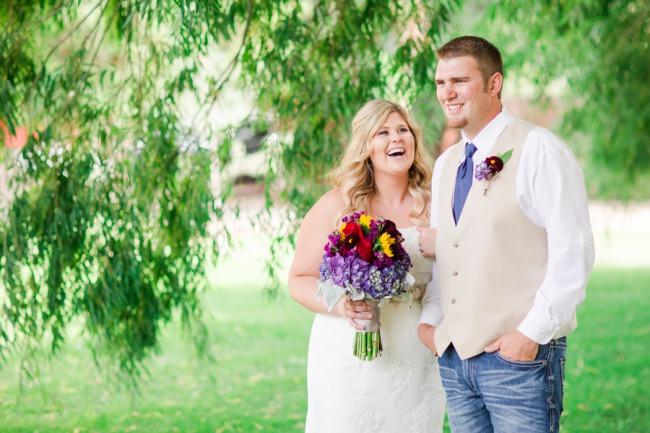newlyweds at Shadow Lake Ranch
