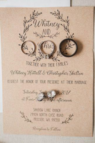 ring shot on kraft color invite