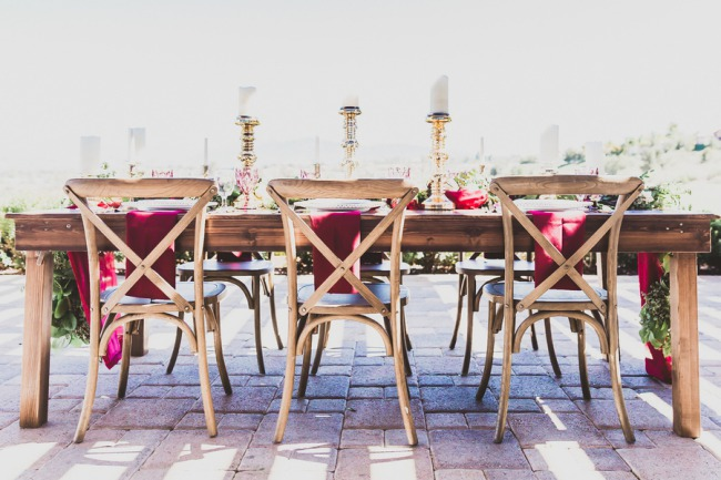rustic wood chairs and table