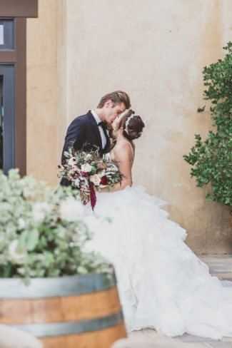 styled couple kiss