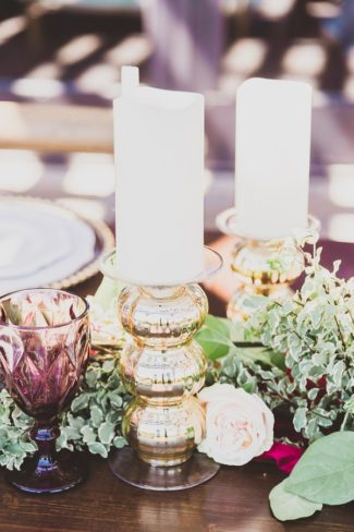 styled decor and candles