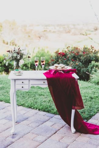 styled outdoor table