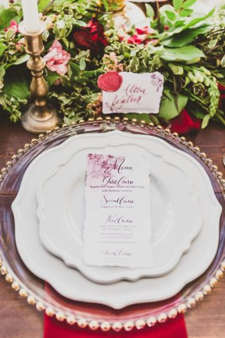styled place setting