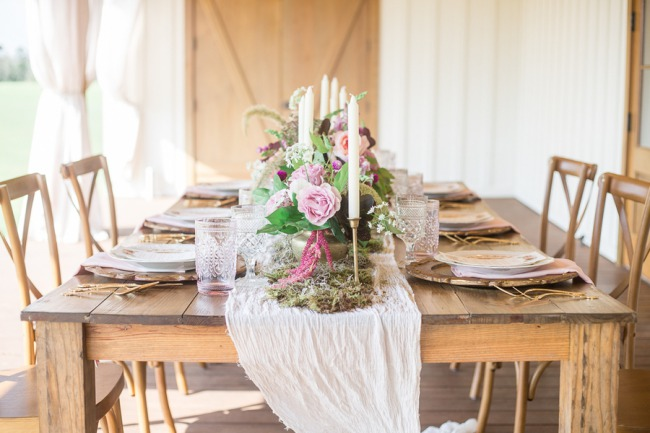 styled table at The White Magnolia